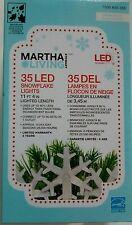 martha stewart xmas Light String LED Snowflake 11Ft Holiday Decor 35 lights new