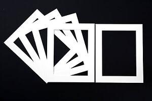Bevel Cut Photo Mounts- White, Black or Cream