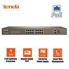 Tenda TEF1218P-16-250W 16 POE Ports 2GE/2SFP Managed Smart Ethernet Switch 250W