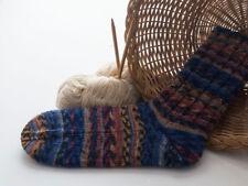 exclusive Socken, Wolle, handgestrickt, Gr. 42/43