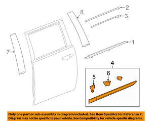 Cadillac GM OEM 15-18 Escalade ESV REAR DOOR-Body Side Molding Right 23264125