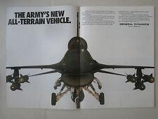 7/1989 PUB GENERAL DYNAMICS USAF F-16 FIGHTING FALCON CLOSE AIR SUPPORT FLIR AD