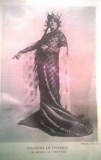 "ELEONORA DE CISNEROS ""ORTRUD"" Matzene Studio PHOTO PRINT FROM 1910 OPERA BOOK"