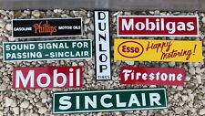 Antique Vintage Style Gas Oil Signs Dunlop Mobil Sinclair Esso Firestone!