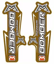 Marzocchi Bomber Fork / Suspension Graphic Decal Kit Sticker Adhesive Set Gold
