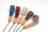 Guitar Strap Belt Natural Linen & Cotton Adjustable Ends Vintage Style