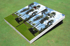 Golf Palm Trees Custom Cornhole Board