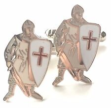England St George`s Day Enamel Crested Cufflinks (N39) Gift Boxed
