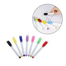 5Pcs Whiteboard Pen Erasable Dry White Board Markers Black Ink Fine Size Nip Set