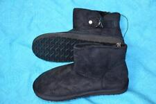 New RIVERS SHAGGA UGG BOOT. WOMENS Size 39-8. Microsuede Black NEW Buckle Trim