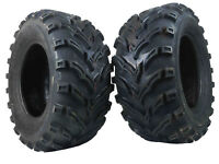 "(2) New 6 Ply MASSFX 25x10-12 Rear Atv Tires 25"" Set of 2 Lite Mud pair"