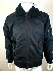 LACOSTE BH8405 MEN'S SHERPA COLLAR PADDED BOMBER JACKETS SIZE 52 / L RRP £240