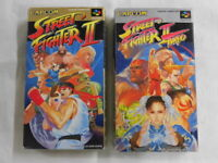 Y2235 Nintendo Super Famicom Street Fighter II & Turbo set Japan SFC SNES w/box