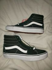 Vans sk8 hi Scarab green and true white Sneakers size 8 mens 9.5 womens New