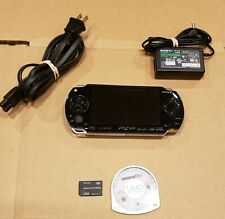 New listing Sony Psp-1001 Black Handheld PlayStation Portable Videogame System +1Gb Stick