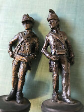 Two Dragoon Continental Pewter Statue Soldier Toy