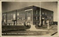 Goldendale WA High School c1915 Real Photo Postcard