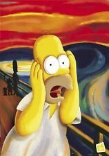 "THE SIMPSONS - TV SHOW POSTER / PRINT (HOMER / THE SCREAM) (SIZE: 24"" X 36"")"
