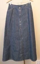 Womens Giesswein Austria Long Modest Blue Denim Jean Skirt Size 42 Large