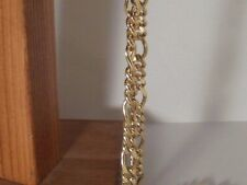 14K Gold Plated Classic Figaro Chain 24 In 10 MM Lifetime warranty