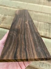 QS Contrast Color ZIRICOTE Wide Fretboard 21 X 4 x .31 Milled in USA Figure