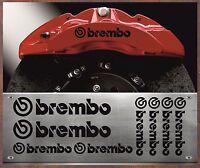 8 Stück Brembo Bremssattel Aufkleber Sticker Hitzebeständige BMW VW Audi Br8S X