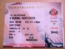 Ticket- SUNDERLAND v WORKING/NORTHWICH, FA Cup 3rd Round, 8 January 2006