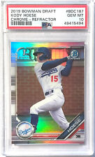 KODY HOESE 2019 BOWMAN CHROME DRAFT ROOKIE REFRACTOR PSA 10 DODGERS