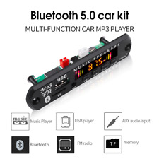 Bluetooth 5.0 Receiver Car Kit MP3 Player Decoder With FM Radio TF USB 3.5 Mm