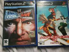 smackdown vs raw and alpine racer 3 on ps2