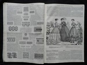 * LA MODE ILLUSTREE * Journal de la famille 1867 (Juillet-Déc.) Mode & Couture