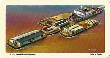 RED ROSE TEA CARD, SERIES: THE ARCTIC, MACKENZIE RIVER BARGES