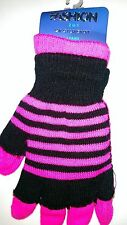 Fashion 2 in 1 Magic Gloves Set in Black and Pink (one size fits all)