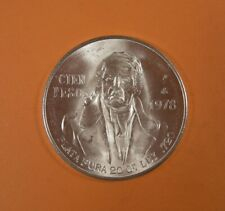 1978 MEXICO 100 PESOS  MEXICO CITY - Silver - UNC.