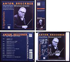 Stanislaw SKROWACZEWSKI Signed BRUCKNER 12CD Symphony No.1 2 3 4 5 6 7 8 9 0 00