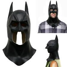 Batman Full Face Latex Mask Cowl Dark Knight Rises Cosplay Halloween Helmet Prop