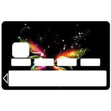 Stickers Autocollants Skin Carte de Crédit CB Papillon 1073 1073
