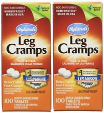 2 Pack Hylands Leg Cramps Quinine, Lower Back & Legs, Homeopathic - 200 Tablets