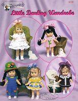 """Crochet doll dress pattern """"Little Darling Wardrobe"""" PDF Download"""