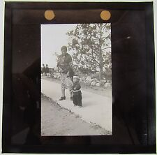 Rare Magic lantern Slide Young Japanese Boy in traditional clothing c1900
