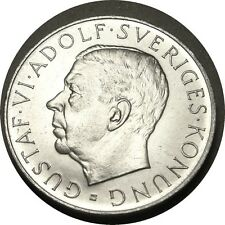 elf Sweden 5 Kronor 1952 Kings 70th Birthday  Silver