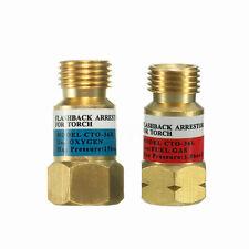 Thread Oxygen&Acetylene Welding Gas Dry Flashback Arrestor Check Valve Torch End