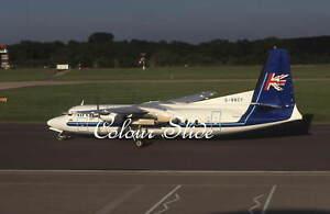 Air UK Fokker F27-500 G-BNCY, Colour Slide, Aviation Aircraft
