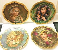 Irene Spencer Symphony of Roses Plates with 24 Karat Gold Trim  **COMPLETE SET**