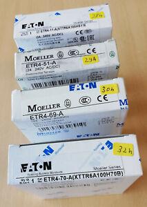 EATON -Moeller Zeitrelais ETR4-11-A,ETR4-51-A,ETR4-69-A,ETR4-70 24V..240V AC/DC