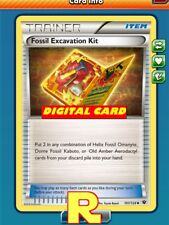 2x Fossil Excavation Kit - for Pokemon TCG Online ( DIGITAL ptcgo in Game Card)