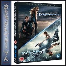 DIVERGENT & INSURGENT - 2 MOVIE PACK  **BRAND NEW DVD**