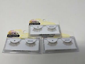 NEW 3-Pack Andrea Strip Lash Easy Application Brown Style # 53 - B25320
