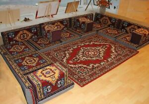 Orientalische Sitzecke, Sark Kösesi, 21-tlg. Shisha-Deko, Arabisches Sofa 🌟✅