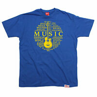 Music Is Life Circle MENS Banned Member T-SHIRT tee birthday gift fashion music